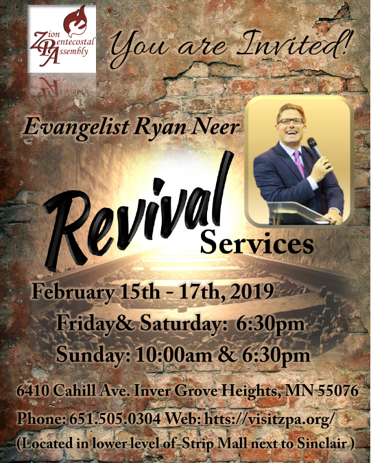 Join Us for Revival Services February 15th-17th!
